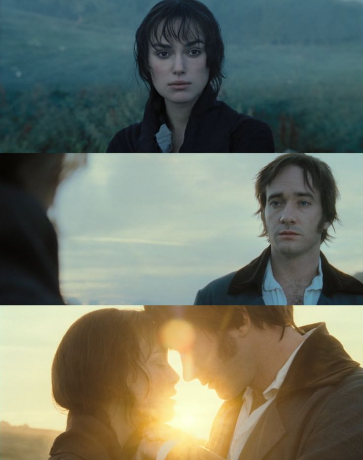 """Mr. Darcy: """"If your feelings are still what they were last April, tell me so at once. My affections and wishes have not changed. But one word from you will silence me forever. lf, however, your feelings have changed I would have to tell you, you have bewitched me, body and soul, and I love… I love… I love you. I never wish to be parted from you from this day on."""""""