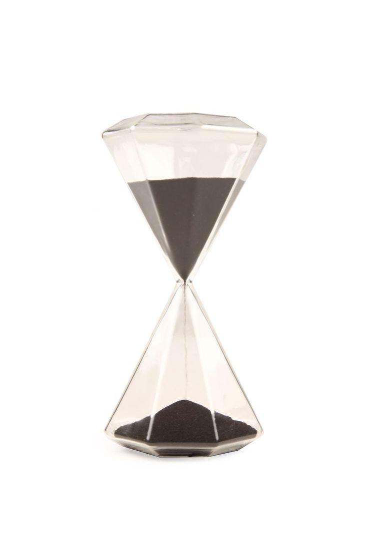 Black sand egg timer gem hour glass #gem #eggtimer #decor #typoshop | Typo www.typo.com.au