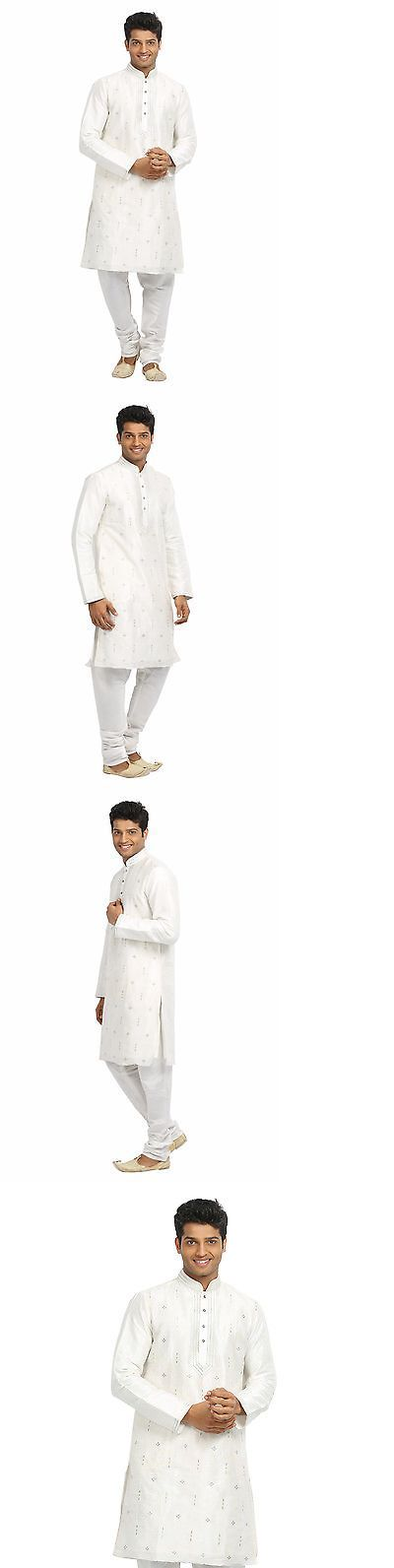 Kurta 155248: Saris And Things White Indian Wedding Kurta Pajama For Men -> BUY IT NOW ONLY: $125 on eBay!