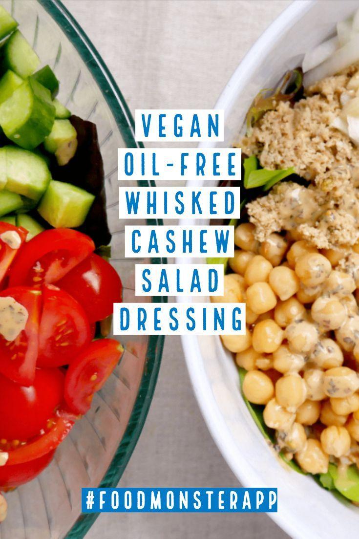 Oil Free Whisked Cashew Salad Dressing Vegan Sugar Free