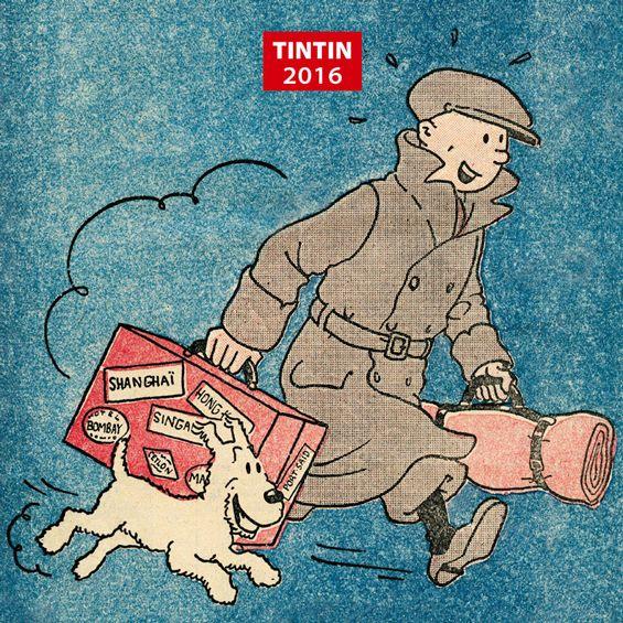 Tintin calendar and diary 2016