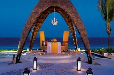 Enjoy a romantic candlelight dinner overlooking the beautiful Caribbean ocean.
