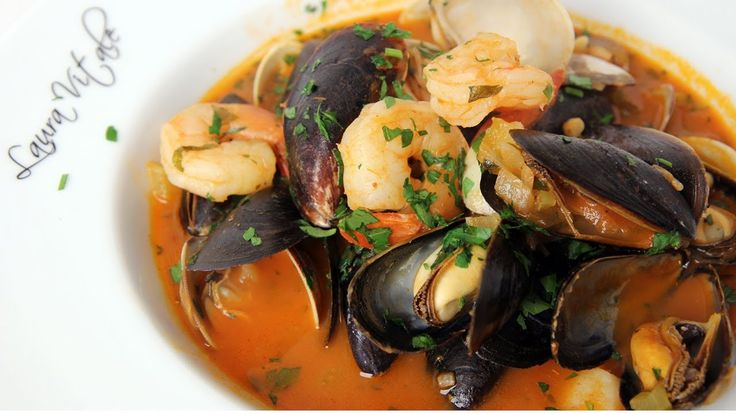 Cioppino laura vitale real comfort food cioppino is a for Is fish considered meat