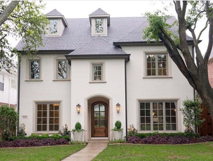 Dark Gray Exterior Residence Color White Trim The Combination Blue And Also