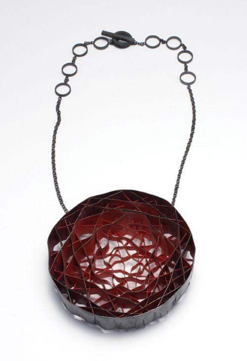 Daniel Kruger-Necklace: Untitled 2011Silver, pigment