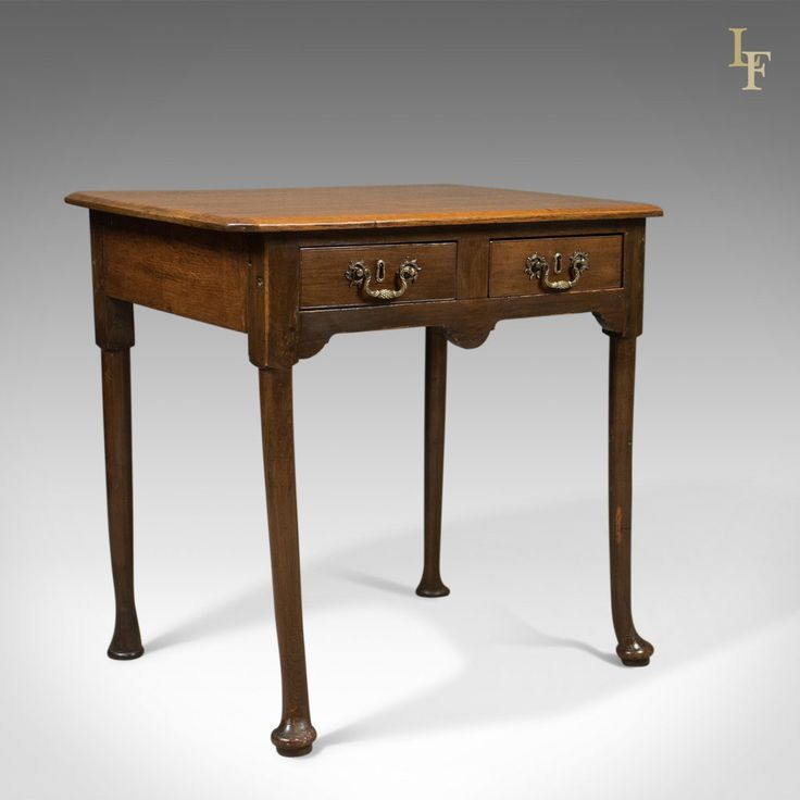 Antique Lowboy, Victorian Hall Table, English Oak c.1850