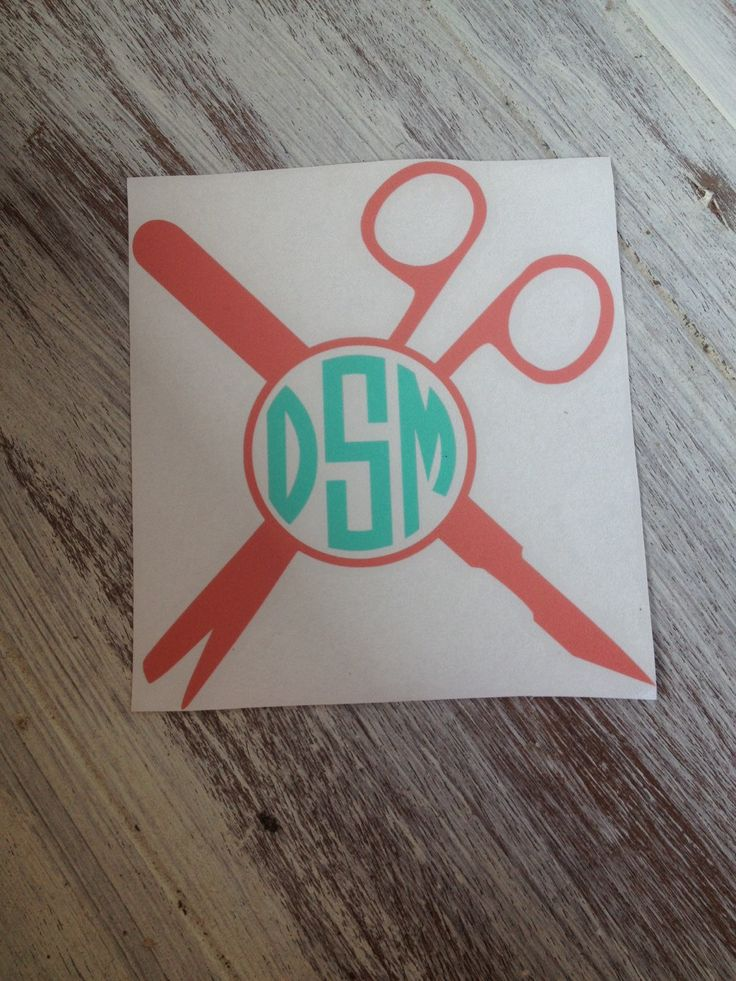 Surgical Tech Monogram Vinyl Decal - pinned by pin4etsy.com