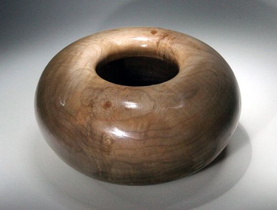 Maple Bowl Donut Hollow Form Wood Turned Bowl Home