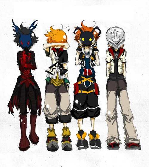 Sora:loooook! Its so cute! Vanitas:I don't know why I'm even here right now. Roxas:god you guys are so embarassing! Ventus: BLOCKING YOU ALL OUT.