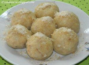 Jablkové knedlíčky bez vajíčka (pouze ze 2 surovin)