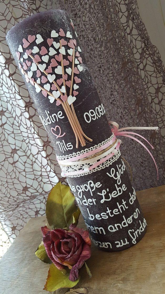 Hochzeitskerze Vintage Shabby Lebensbaum Etsy Hochzeitskerze Vintage Kerze Hochzeit Hochzeitskerze