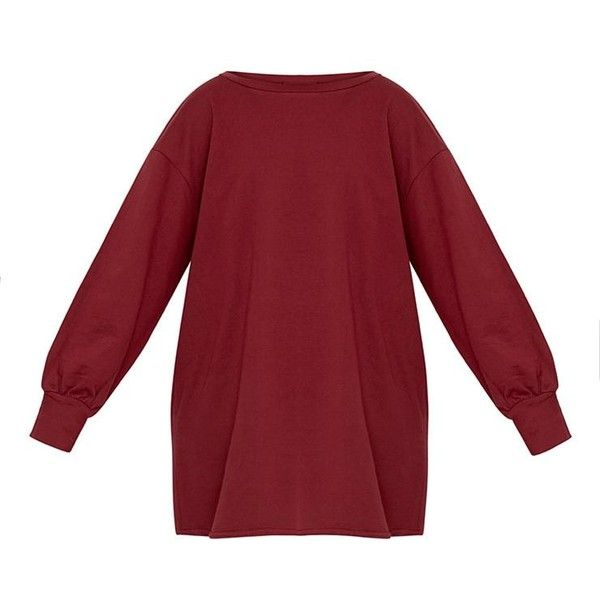 Sianna Burgundy Oversized Sweater Dress ($30) ❤ liked on Polyvore featuring dresses, red dresses, burgundy sweater dress, burgundy red dress, burgundy dresses and sweater dresses