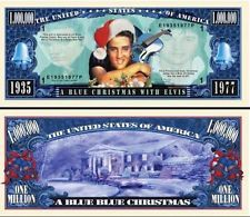 2 Notes Elvis Presley Blue Christmas Novelty Million Dollar Notes