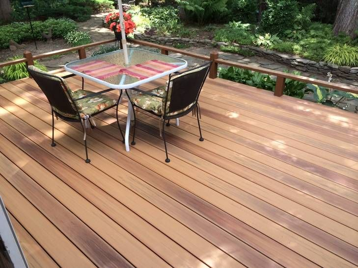 Duralife golden teak capped composite decking beautiful for What is capped composite decking