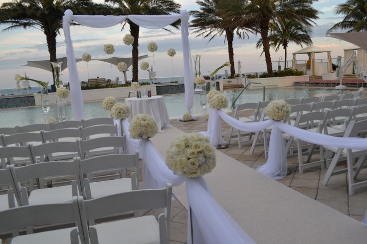 Ocean View Wedding Ceremony Party Perfect Boca Raton, FL 561-994-8833