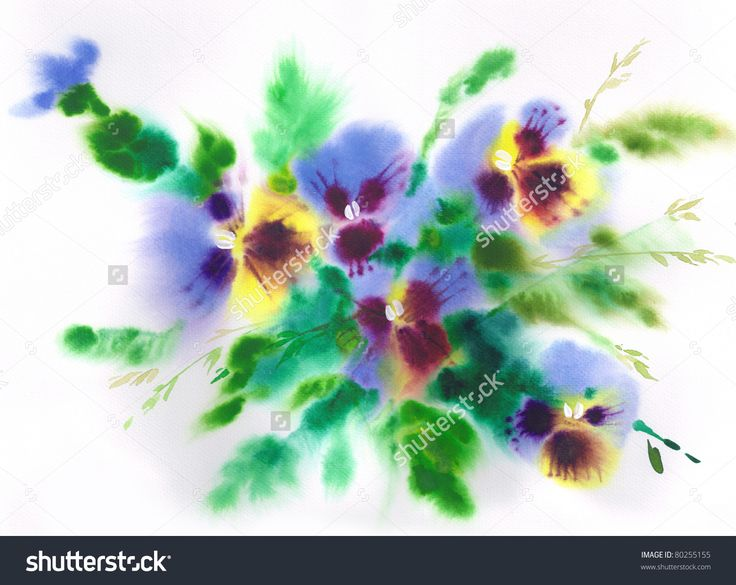 watercolor violets - Google Search