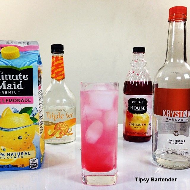 Rose colored glass cocktail tipsy bartender pinterest for Cocktail triple sec