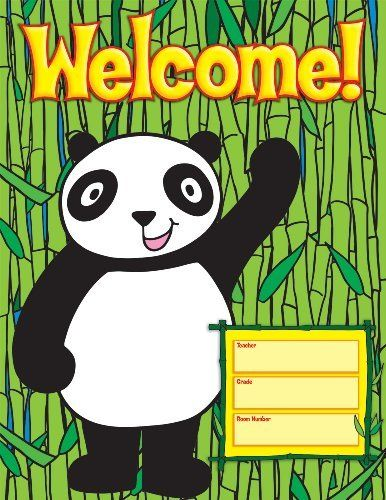 Scholastic TF2457 Panda Welcome Chart by Scholastic, http ...