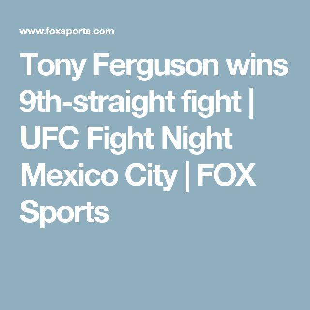 Tony Ferguson wins 9th-straight fight | UFC Fight Night Mexico City | FOX Sports
