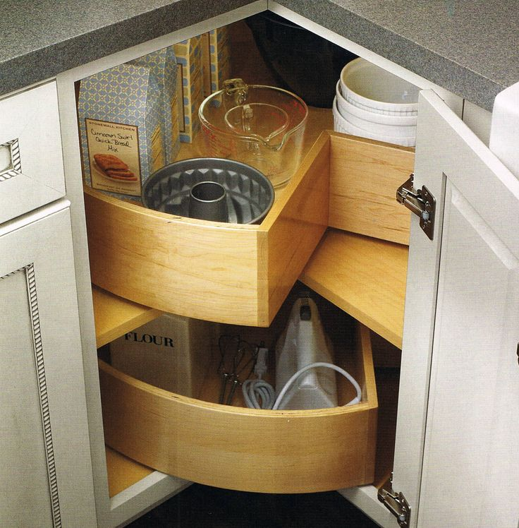 Deep Kitchen Cabinet Solutions: Corner Cabinet