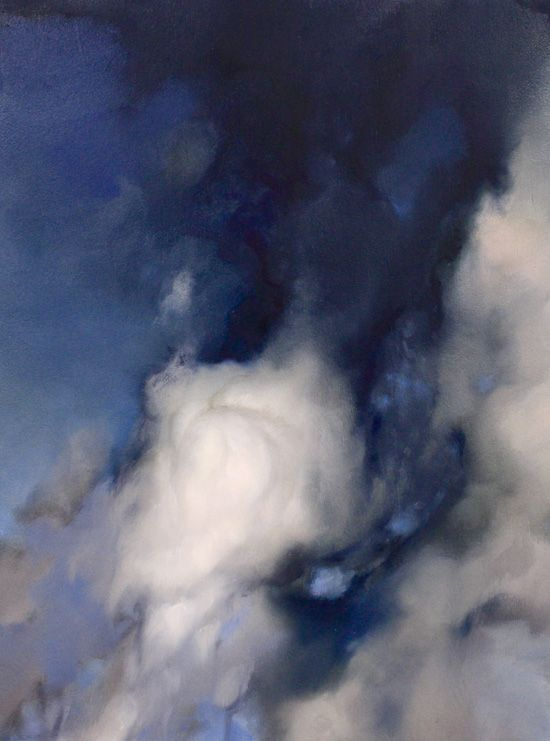 Clouds. Oil on wood painting by Ambera Wellmann//