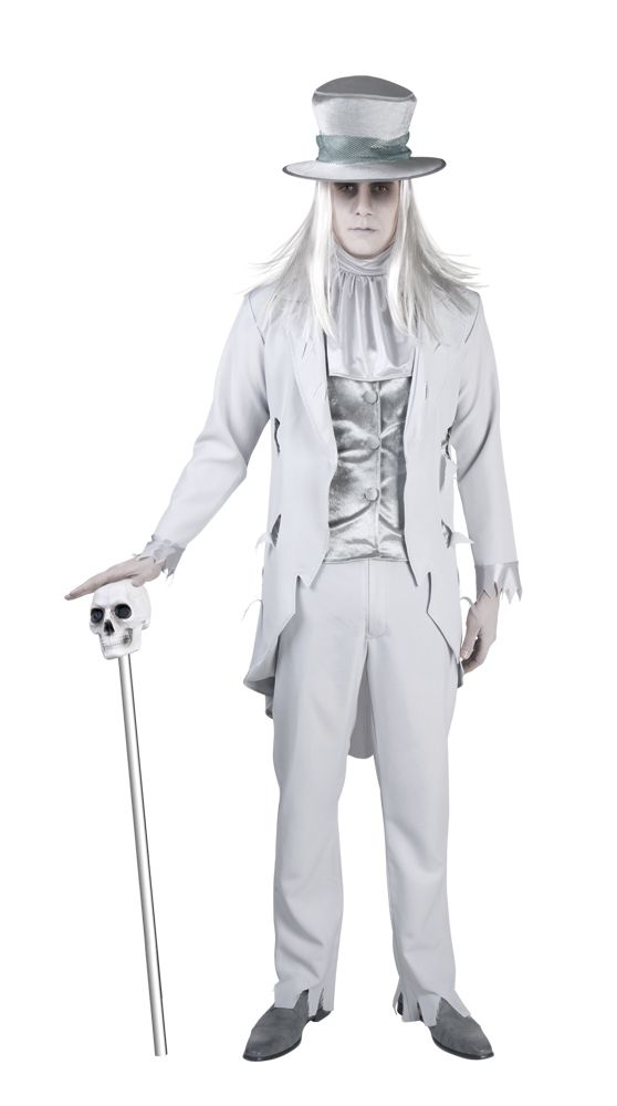 Aavesulhanen. Valkoisen harmaa aavesulhanen on pelottavan näyttävä naamiaisasu. Aavesulhanen on parhaimmillaan Halloween-bileissa sekä kaikissa muissakin naamiaisissa, joissa aaveet ovat kutsuttuja vieraita.