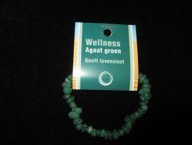 Splitarmband Agaat groen,is een ,aardende,stabiliserende en beschermende steen.En bevordert innerlijke rust en een kalme rustige houding.Het stimuleert spirituele en geestelijke groei prijs ca.5,oo.......lbxxx.