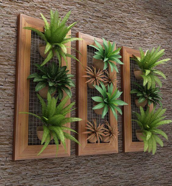 Decoracion de repisas con plantas