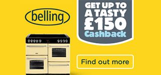 A FANTASTIC NEW OFFER FROM BELLING!! Belling are offering up to £150 cash-back on Range Cookers. For more details, please see: http://bellsdomestics.co.uk/belling-range-cookers