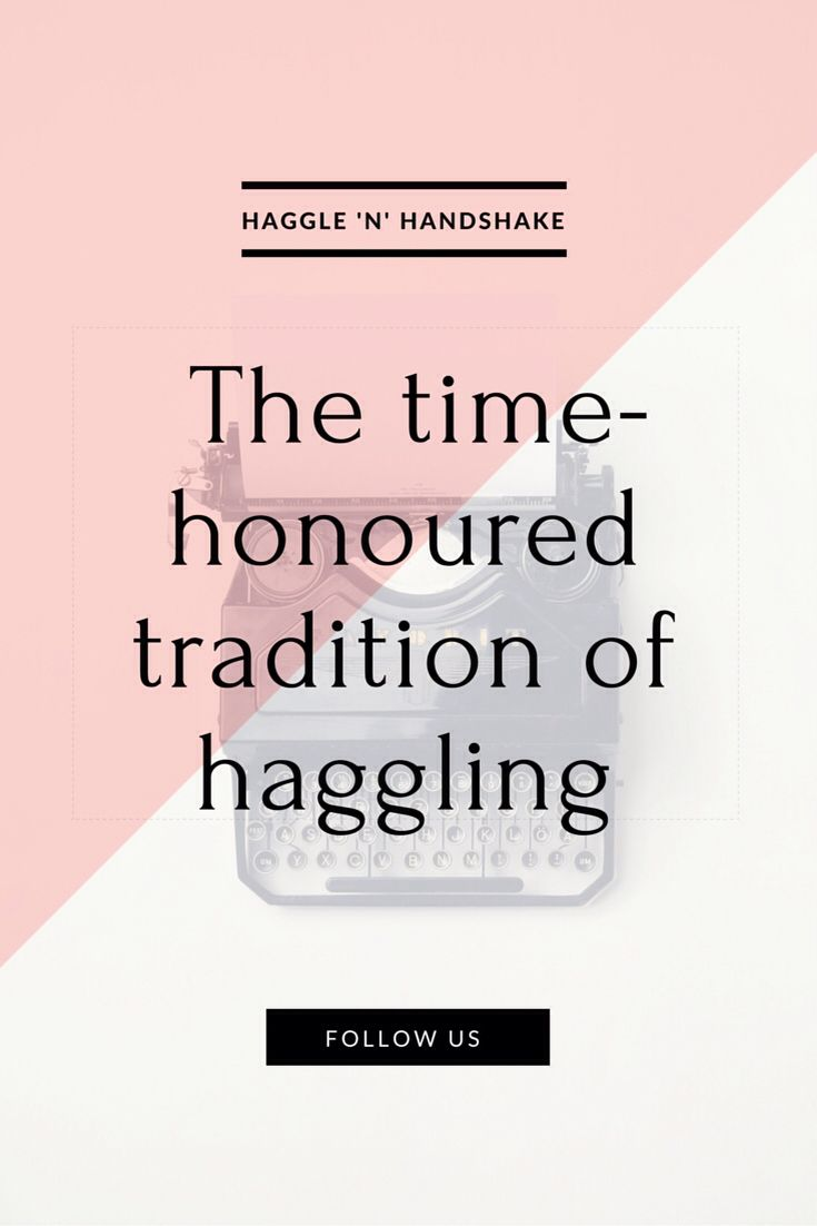 Everyone loved getting a bargain and haggling is a global, time honoured tradition dating back to ancient Greece.
