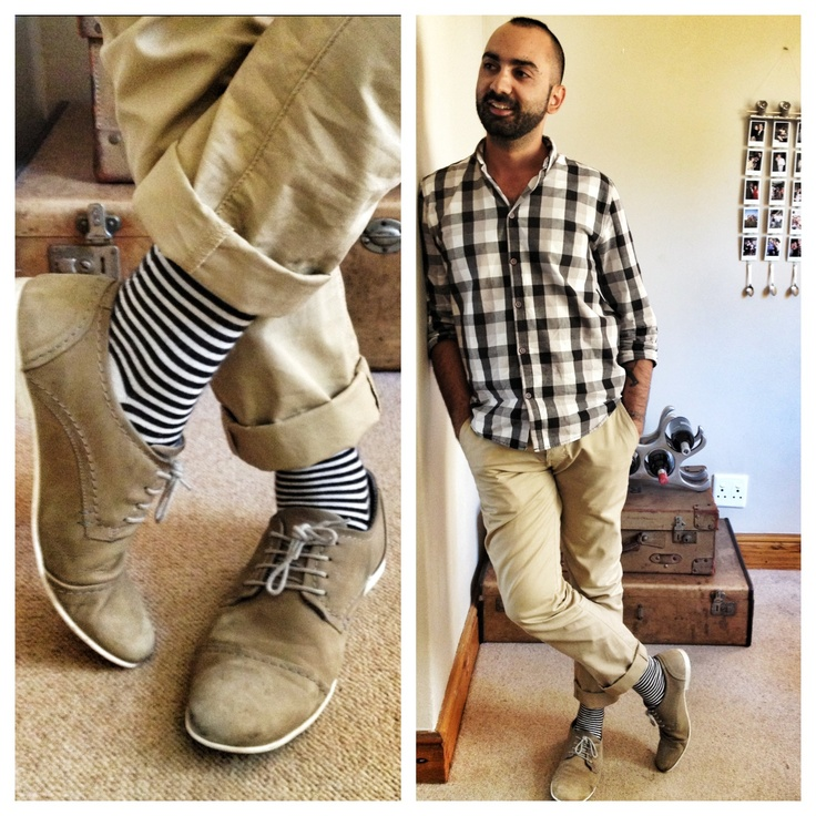 The socks are called The Barcode but aren't in production yet. I'm wearing them to get an idea of what they look like on and what they work with.    As you can see I went with a matching of the socks and the shirt, black and white.    #mensfashion #fashiontips #socks #nicsocks #mensshoes #mensfashiontips