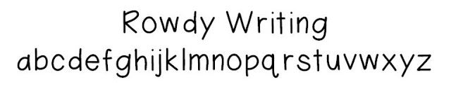 Rowdy Writing Font. Used this to make my Text Coding Posters.