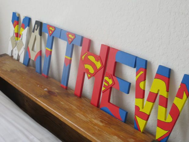 Superman Letter Art - awesome.