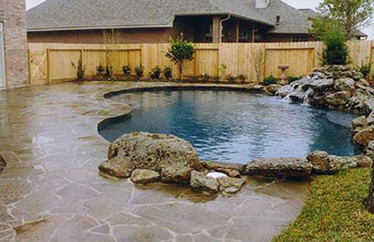 Rock Wall Around Pool Google Search Home Sweet Home Pinterest