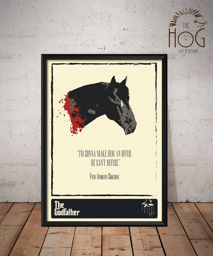 The godfather epic horse head unique poster minimal for Minimal art literatur