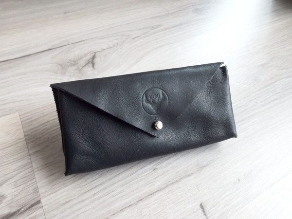 Leather Sunglass Case by KaruHandmade on Etsy