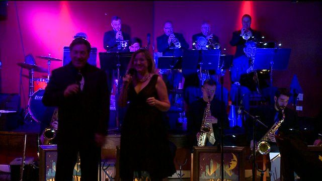 Did you know that Natalie joined a band? Just kidding! But she did stop by and chat with Swing City.  You can catch Swing City Big Band every third Tuesday of the month at Vosh in Lakewood.