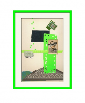 Collage, neon frame