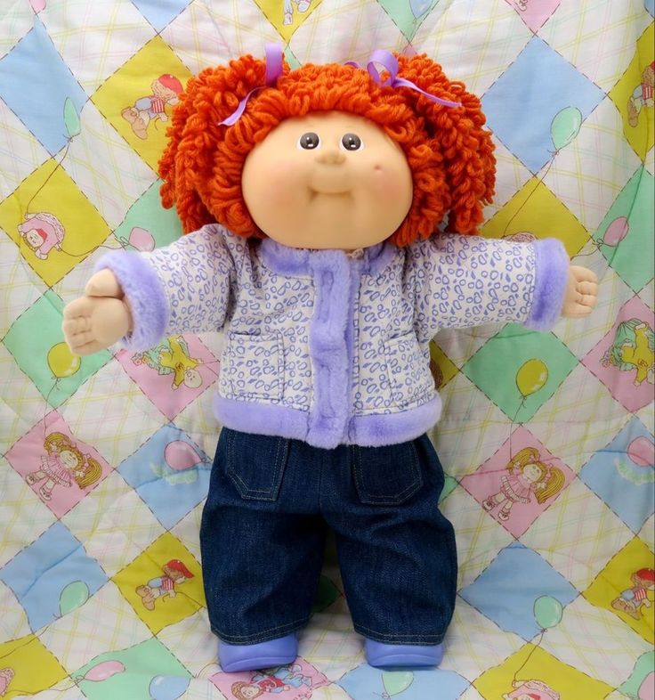 Cabbage Patch Kids Hasbro Transitional Girl Double Popcorn Red Hair Brown Eyes Cabbagepatchkids D Cabbage Patch Kids Cabbage Patch Babies Red Hair Brown Eyes