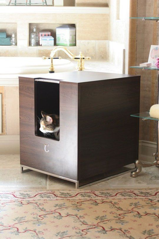 10 Ideas For Disguising Or Hiding A Litter Box Clever Boxes Diy Modern Cat Furniture