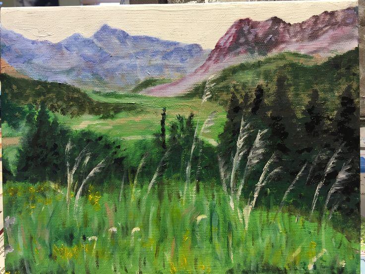 Colorado-oil on canvas by Carol Rich