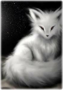 baby kitsune....idea for mischievous spirit animal..?