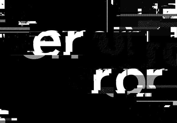 Glitch Typography by Craig Ward, via Behance