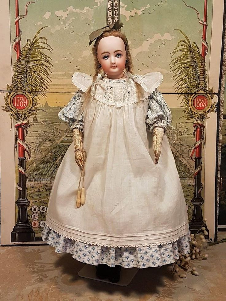 ~~~ Lovely Childlike French Teen Bisque Poupee with Original Gown ~~~ from whendreamscometrue on Ruby Lane