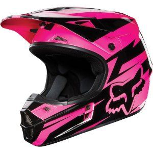 Fox Racing Costa Youth V1 Motocross/Off-Road/Dirt Bike Motorcycle Helmet - Black/Pink / Large : Amazon.com : Automotive