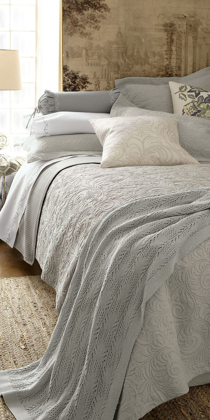 17 Best I Cozy Up Images On Pinterest For The Home Bedroom And Esprit Sheet Set Lily King Size Sferra Hannah In Aqua Grey Ivory Lavender Or White Love This Bedding Inspiration Guest Room