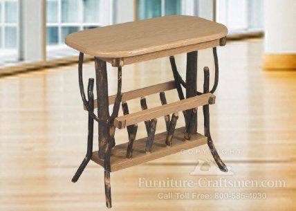Collins Point Wide End Table/ Magazine Rack