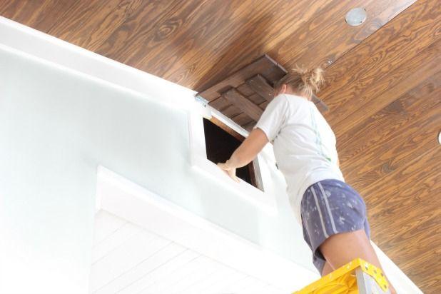attic access door hanging