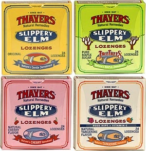 Thayer's lozenges feature slippery elm bark, a traditional remedy for throat irritation. This stuff works. It's great on set for helping to ease the effects experienced when working with theatrical fog. (Also lovely for soothing a voice taxed from vocal violence such as screaming or cheering.) Start using it before you are in pain... prevention beats rehab when in comes to the voice.