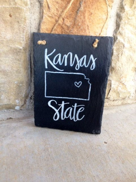 Kansas State University sign by FreelyScripted on Etsy